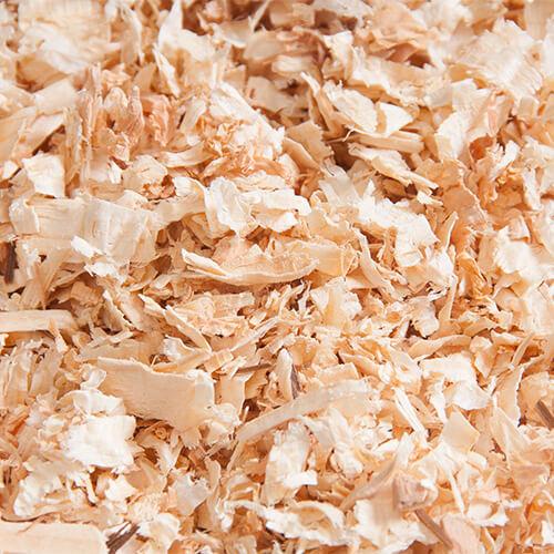 houtkrullen bodembedekking